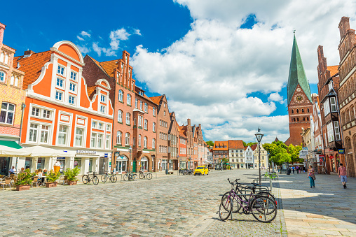 Luneburg Germany View Of The City Center With Historic Architecture One Of The Most Popular City In Northern Germany Stock Photo - Download Image Now
