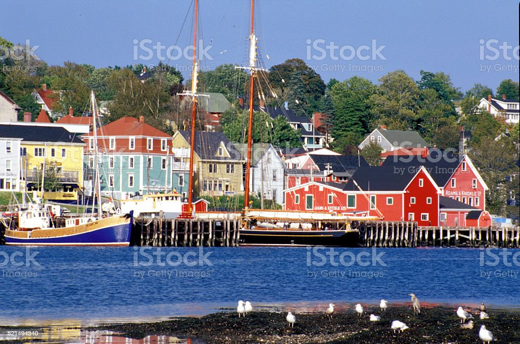 Lunenburg Novia Scotia stock photo