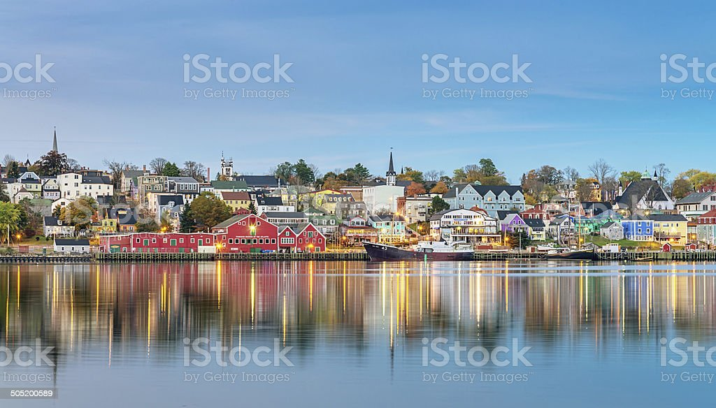 Lunenburg Panorama, Nova Scotia Canada stock photo