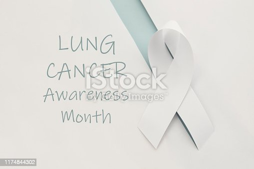 Lung cancer awareness  month ribbon