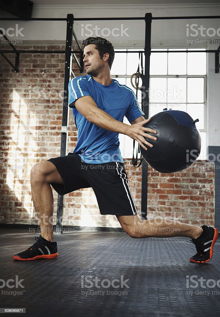 Lunge into a healthy lifestyle stock photo