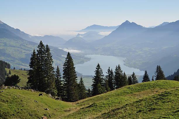 Lungerer sehen, einem see in der Schweiz – Foto