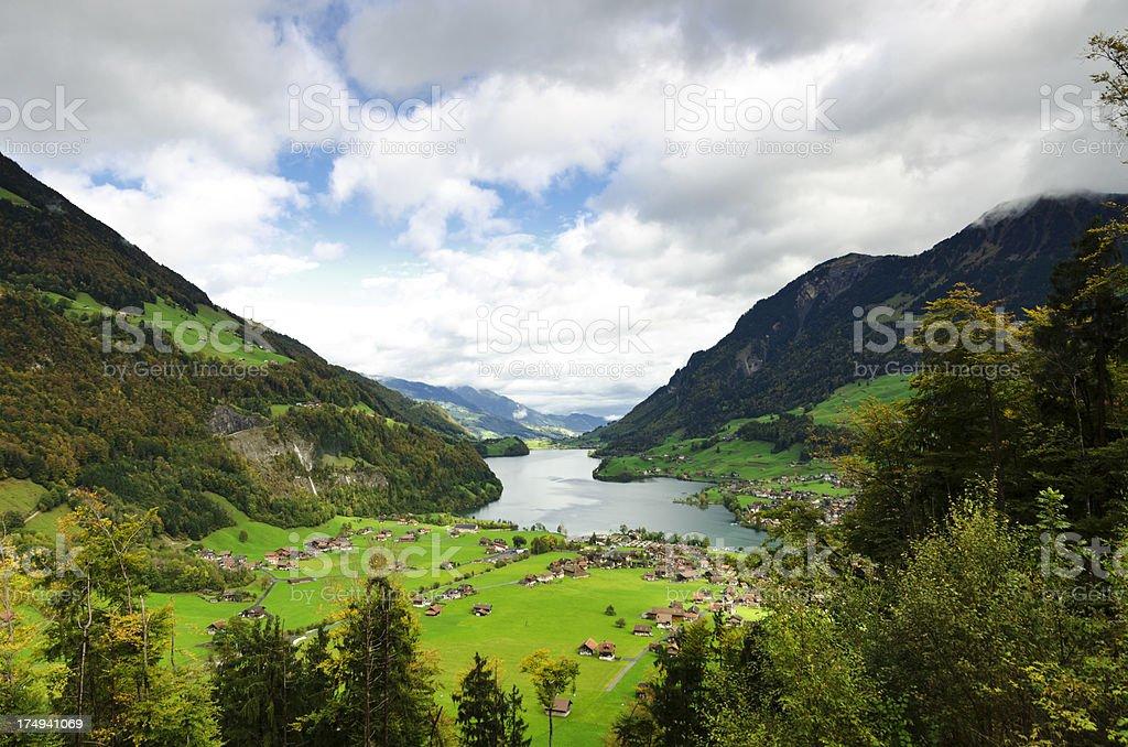Lungerner See - Lake Lungern Switzerland royalty-free stock photo