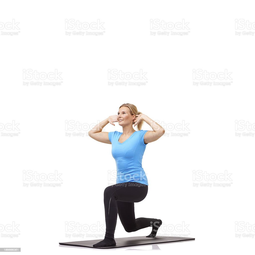 Lunges royalty-free stock photo