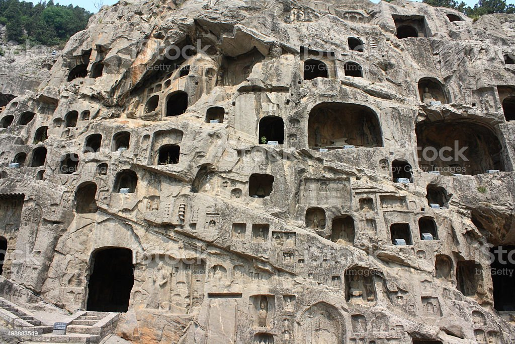 Luoyang Longmen Grottoes stock photo