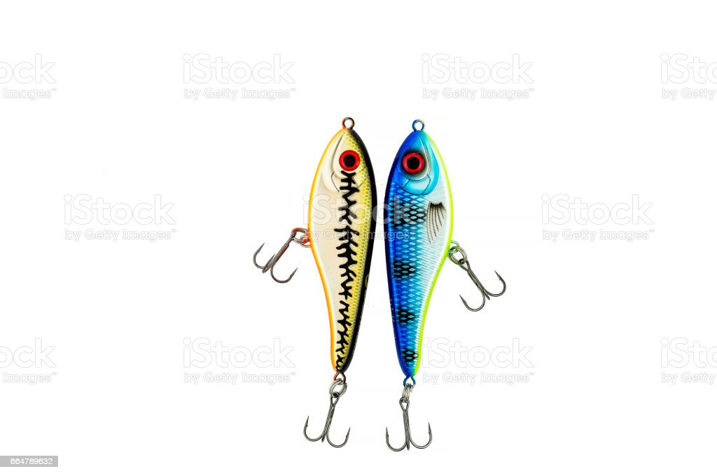 Lures for pike. stock photo
