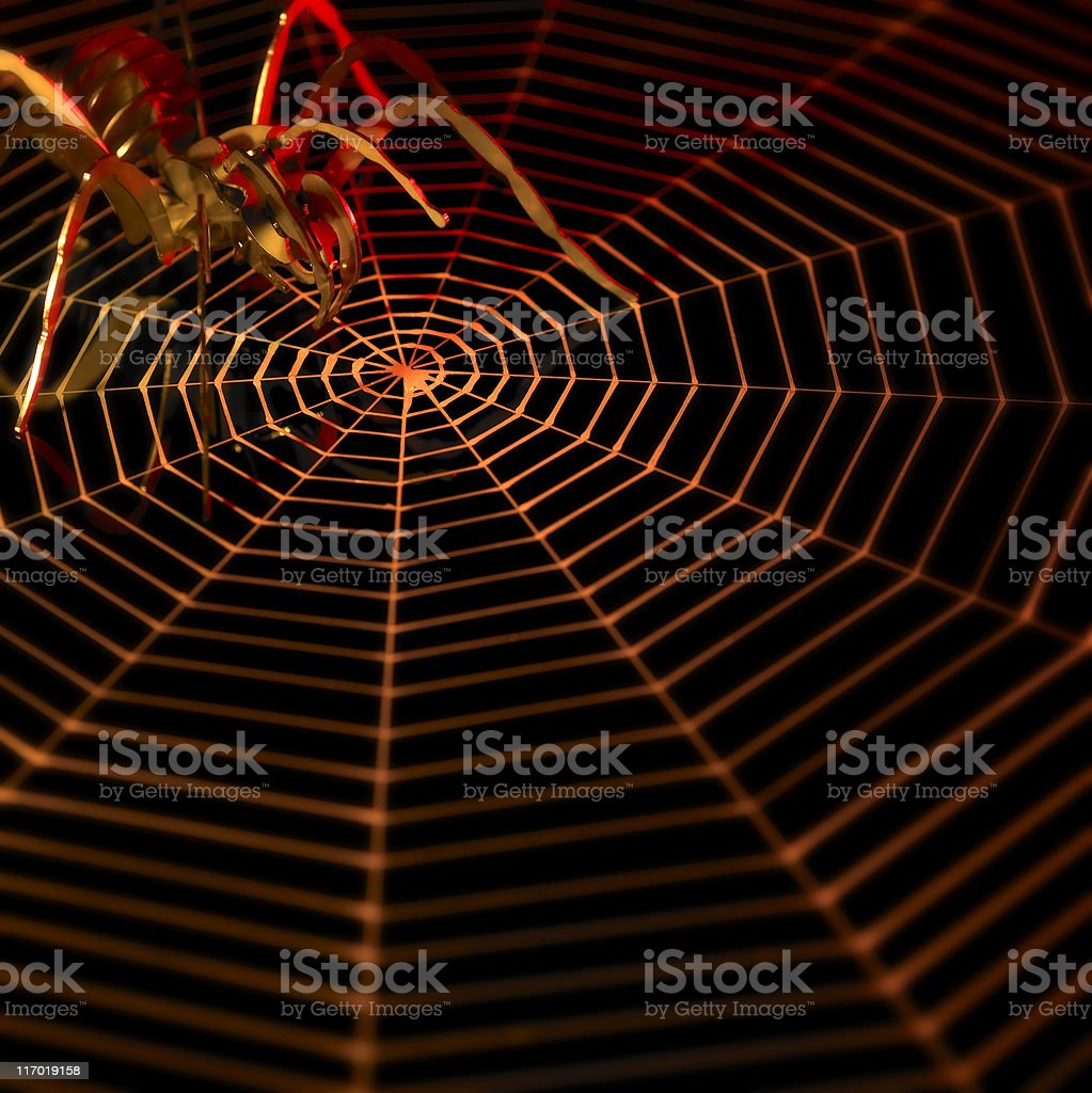 lurking metallic spider royalty-free stock photo