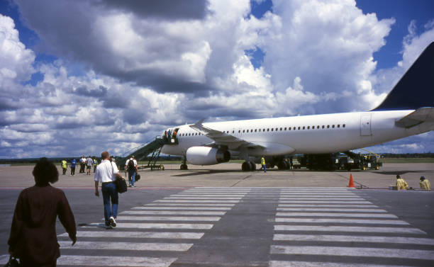 Lusaka Airport - Zambia stock photo