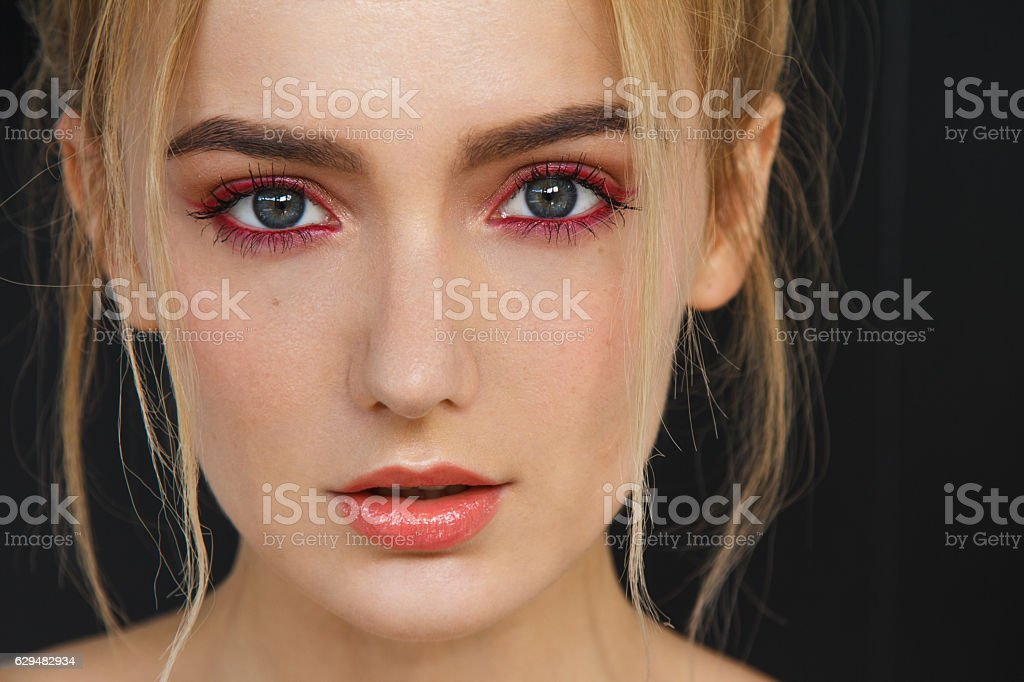 Luscious lips stock photo
