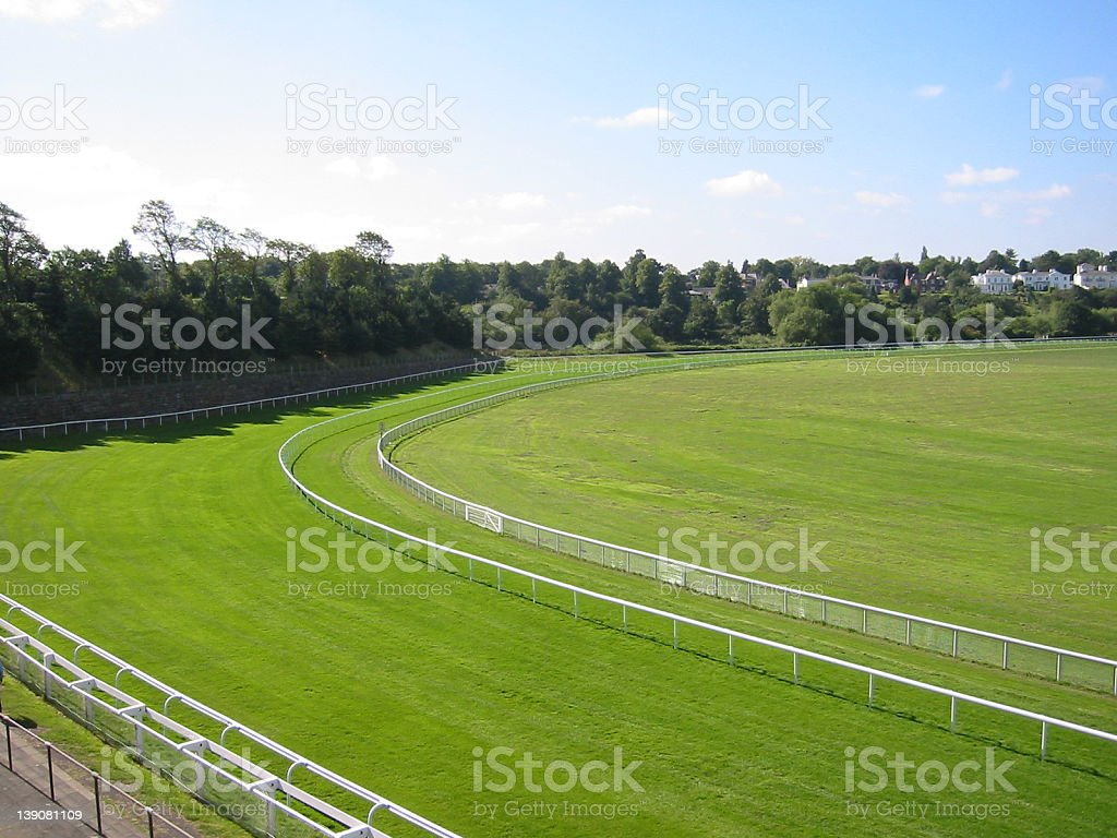 Lush, Green Racecourse royalty-free stock photo