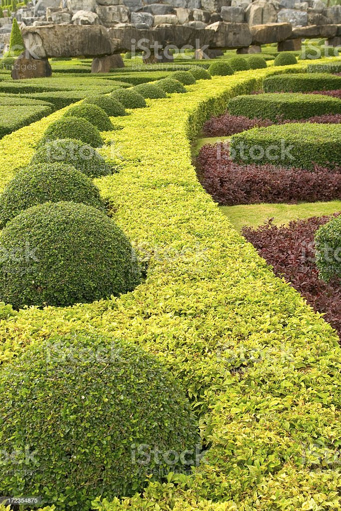 Lush landscaped gardens royalty-free stock photo