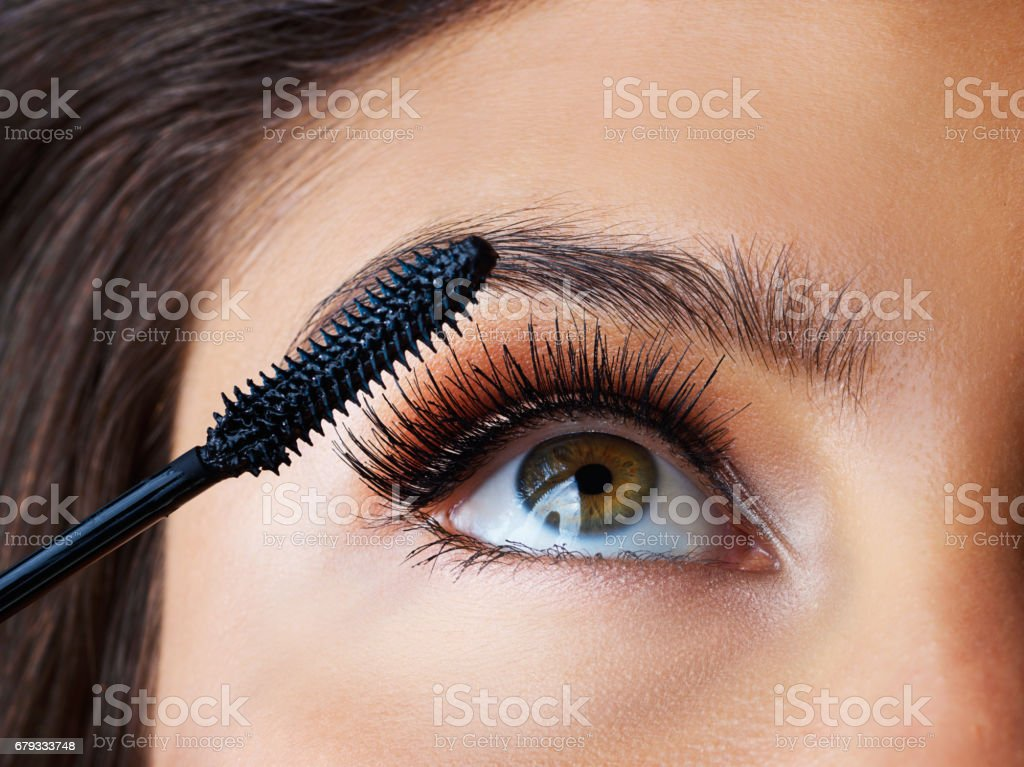 Lush lashes are what she longs for stock photo