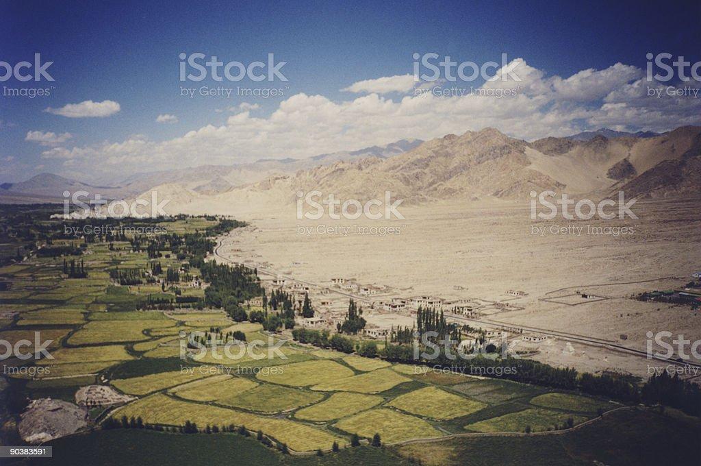 Lush mountain valley royalty-free stock photo