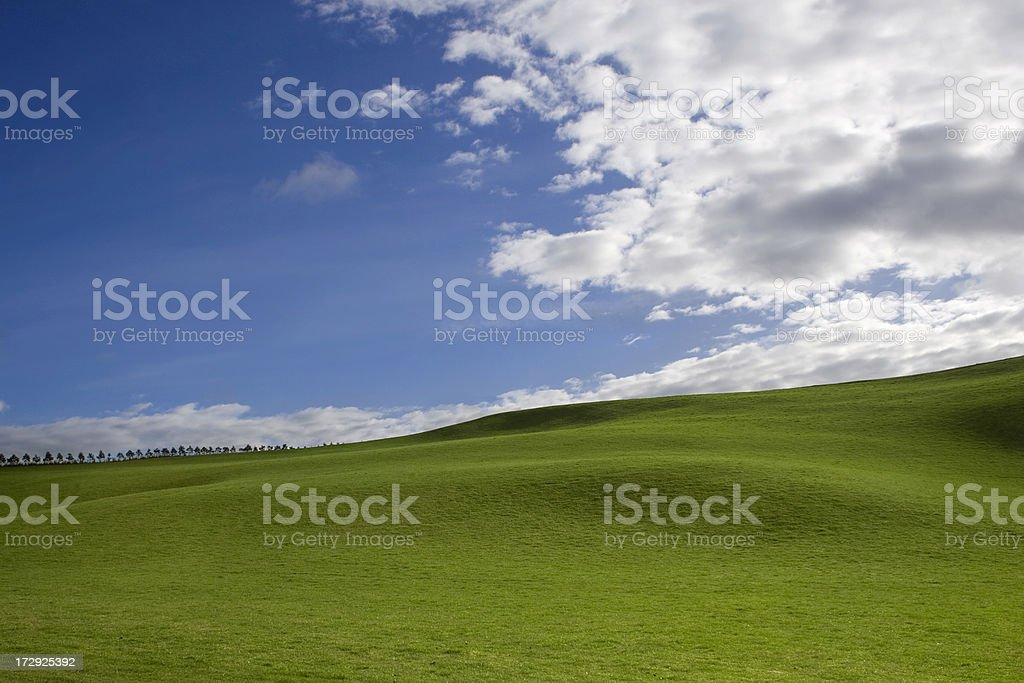 lush rolling hills royalty-free stock photo