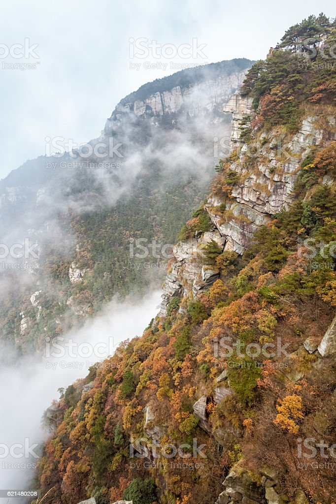 lushan landscape in autumn stock photo