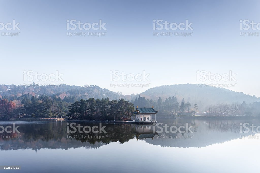lushan mountain in autumn stock photo