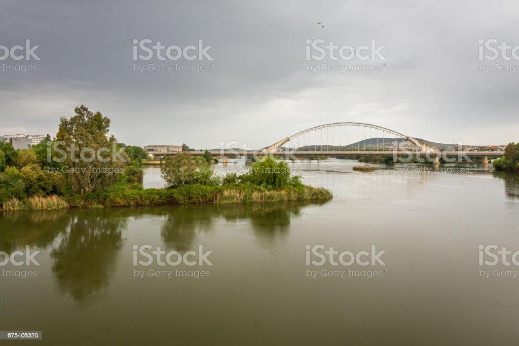 Lusitania Bridge Merida royalty-free stock photo