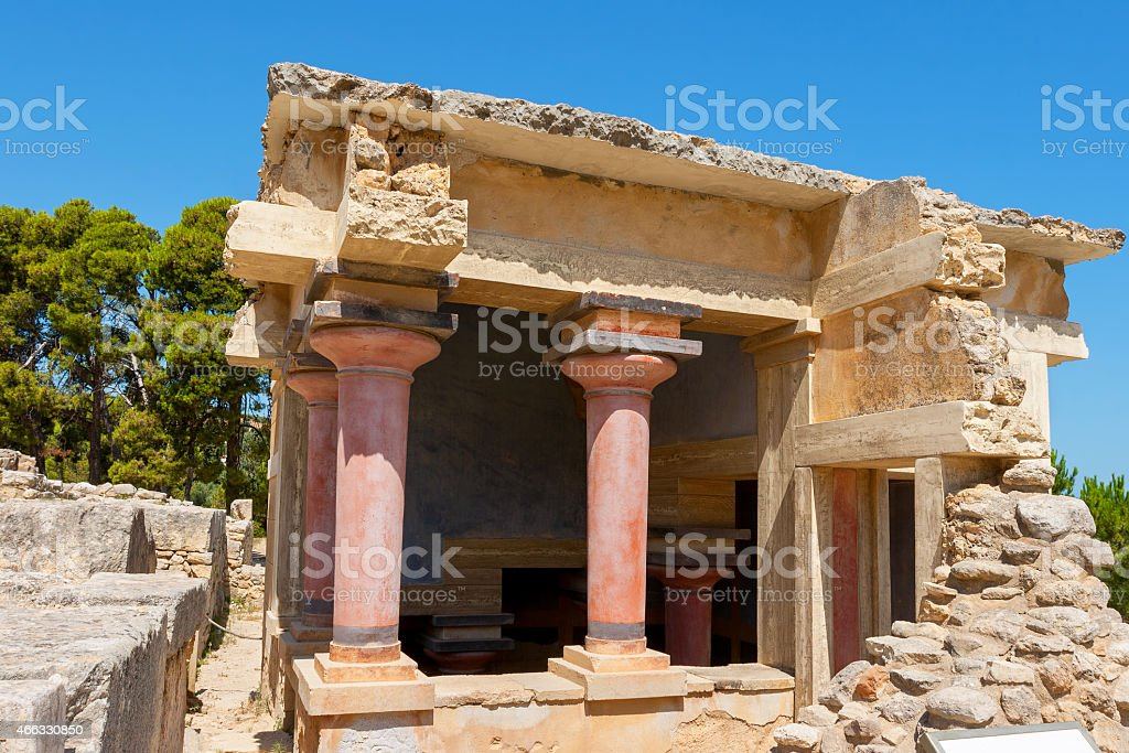 Lustral Basin. Palace of Knossos, Crete, Greece stock photo