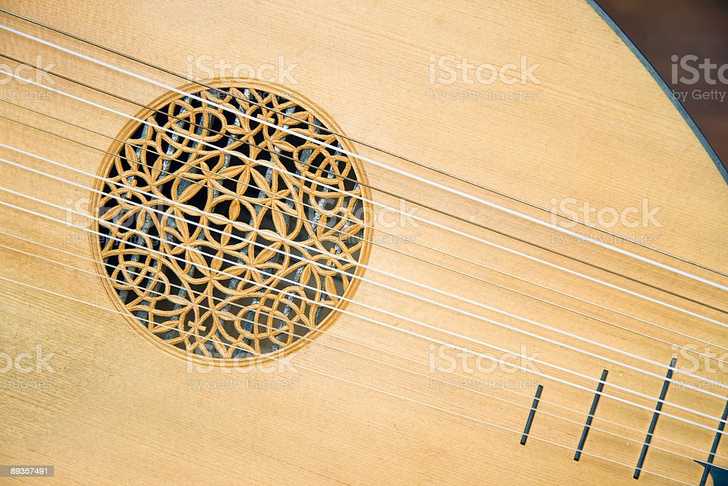 Lute close-up stock photo