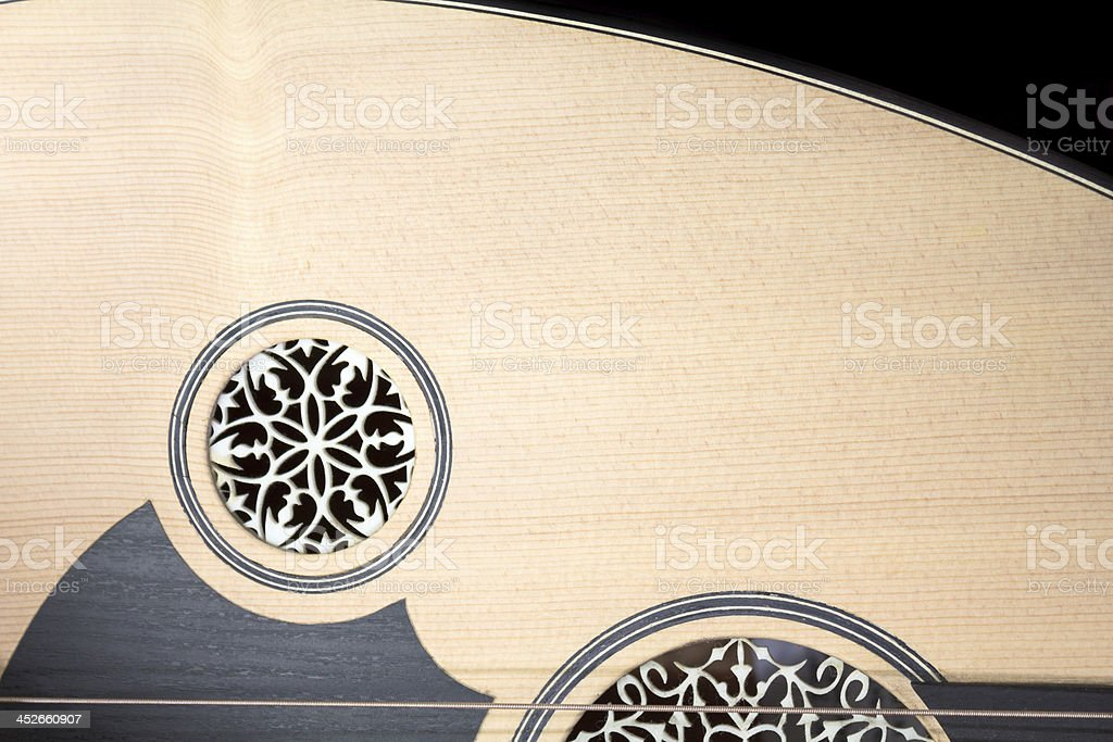 Lute detail stock photo