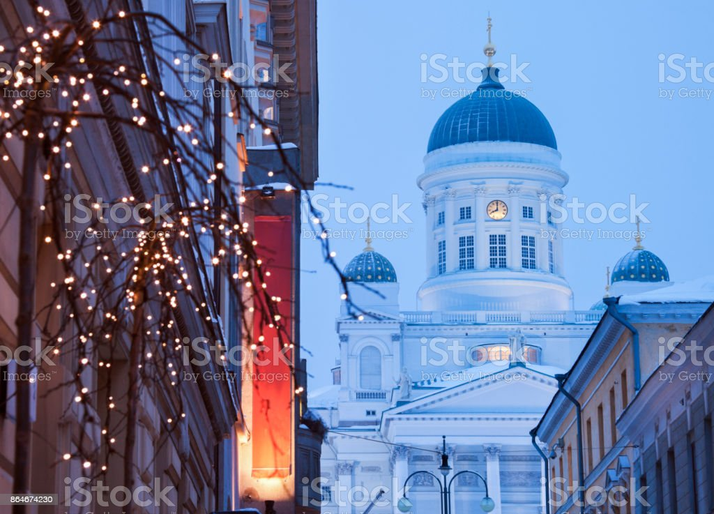 Lutheran Cathedral in Helsinki stock photo