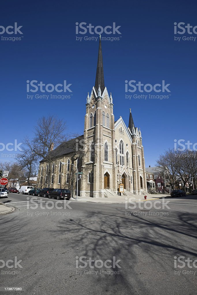 Lutheran Church Chicago Southwest Side royalty-free stock photo