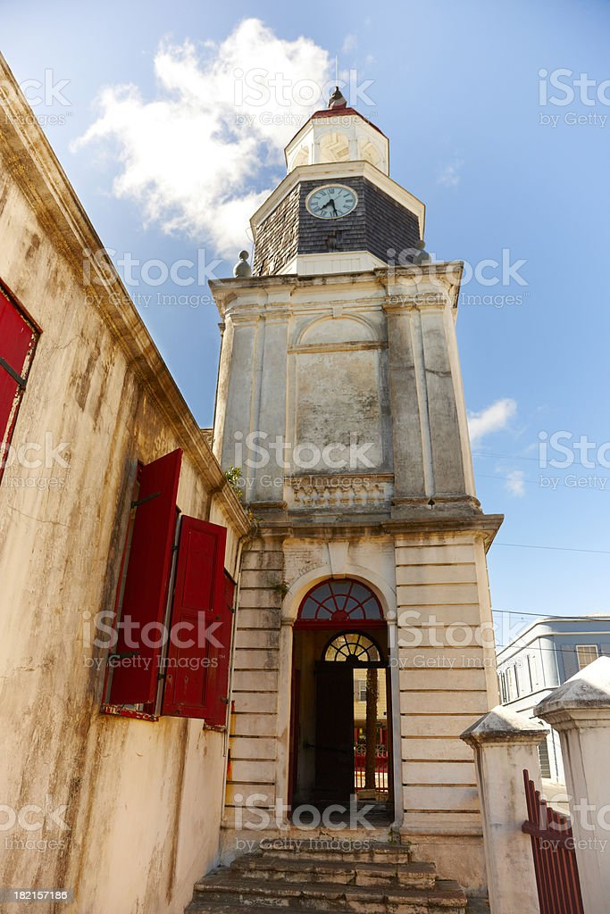 Lutheran Church Christiansted, St Croix, USVI stock photo