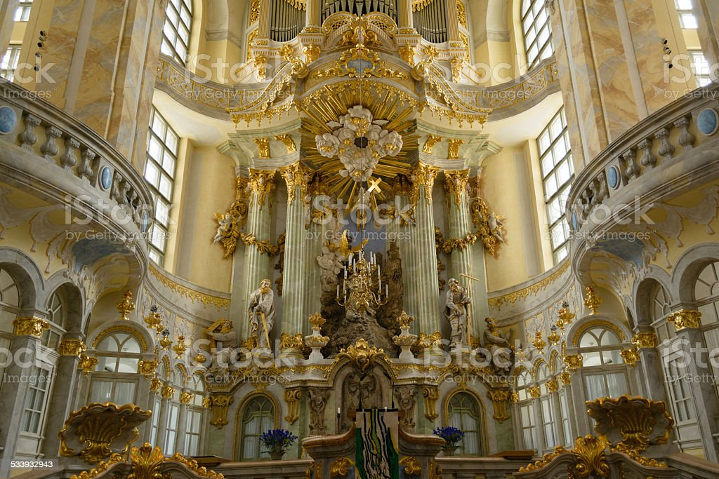 Igreja Luterana de Nossa Senhora de Dresden foto royalty-free