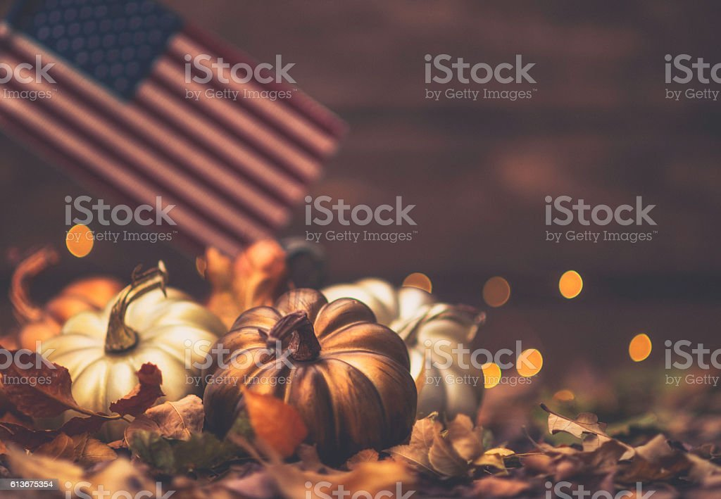 Luxe still life arrangement for Thanksgiving or Halloween. Fall holidays stock photo