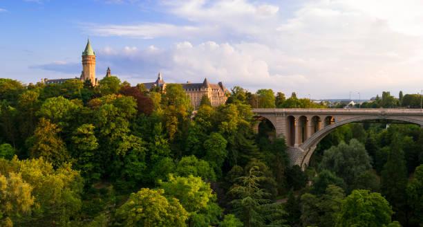 Luxembourg Adolphe Bridge stock photo