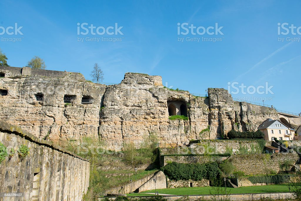 Luxembourg casemates - Grand Duchy of Luxembourg stock photo