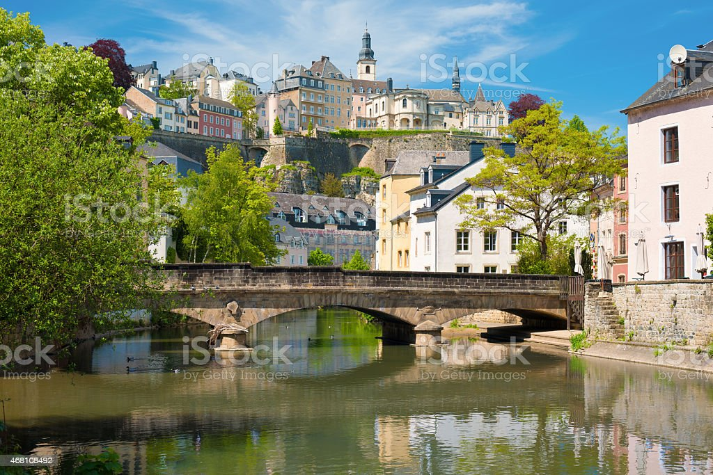 Luxembourg city at a summer day stock photo
