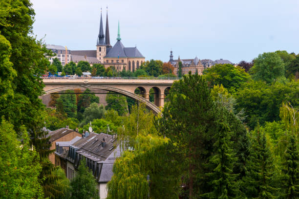 Luxembourg City Centre stock photo
