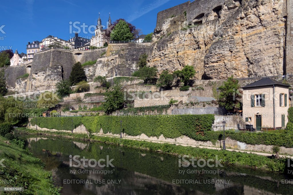 Luxembourg City in the Grand Duchy of Luxembourg stock photo