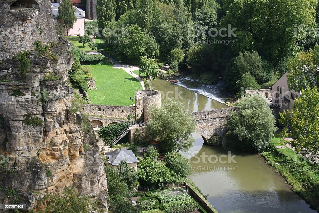 Luxembourg City stock photo
