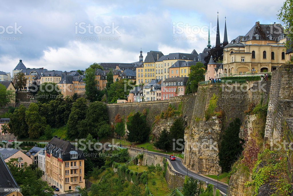 Luxembourg City royalty-free stock photo