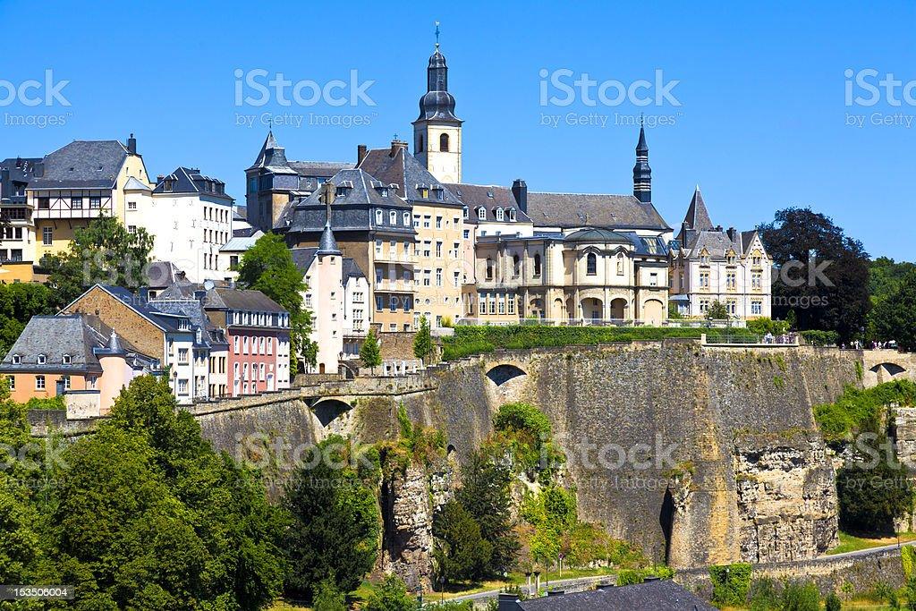 Luxembourg city skyline stock photo