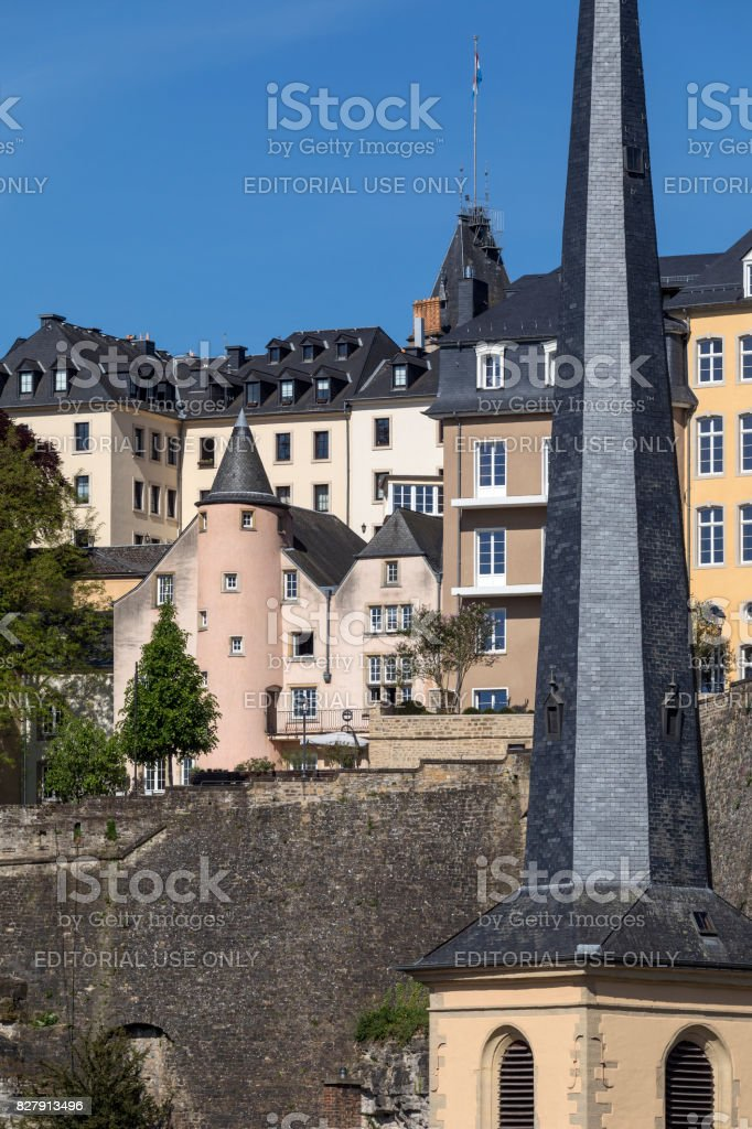 Luxembourg City - Ville de Luxembourg stock photo