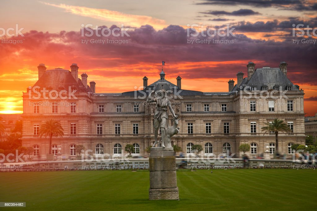 Luxembourg Gardens stock photo