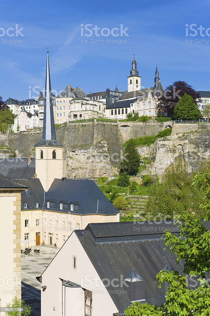 Luxembourg in a sunny day royalty-free stock photo