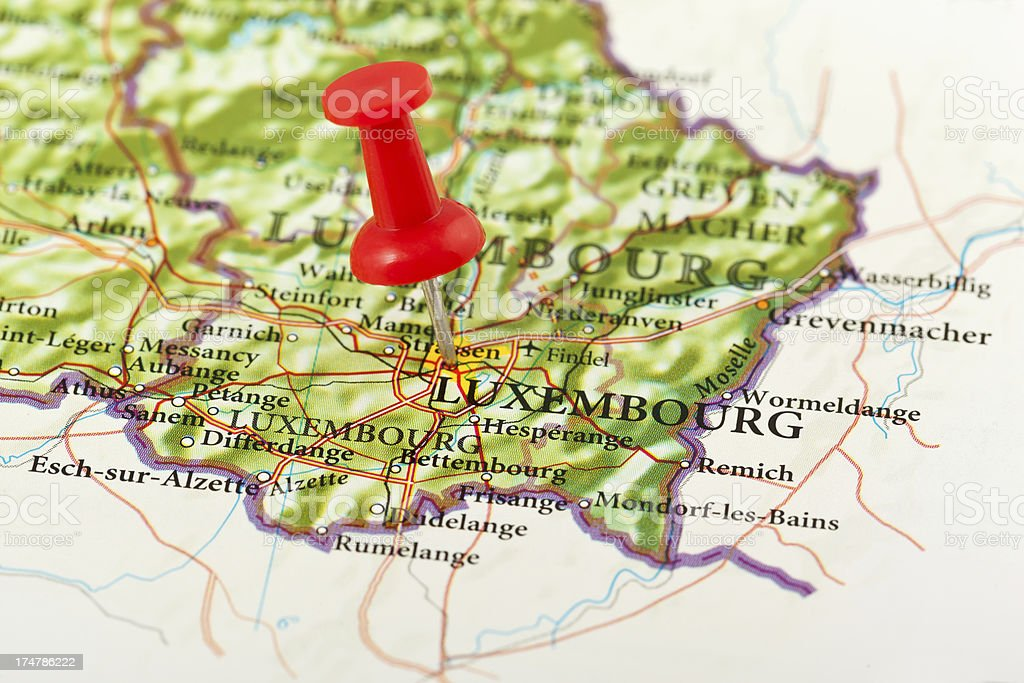 Luxembourg Map Europe Stock Photo More Pictures of Benelux iStock