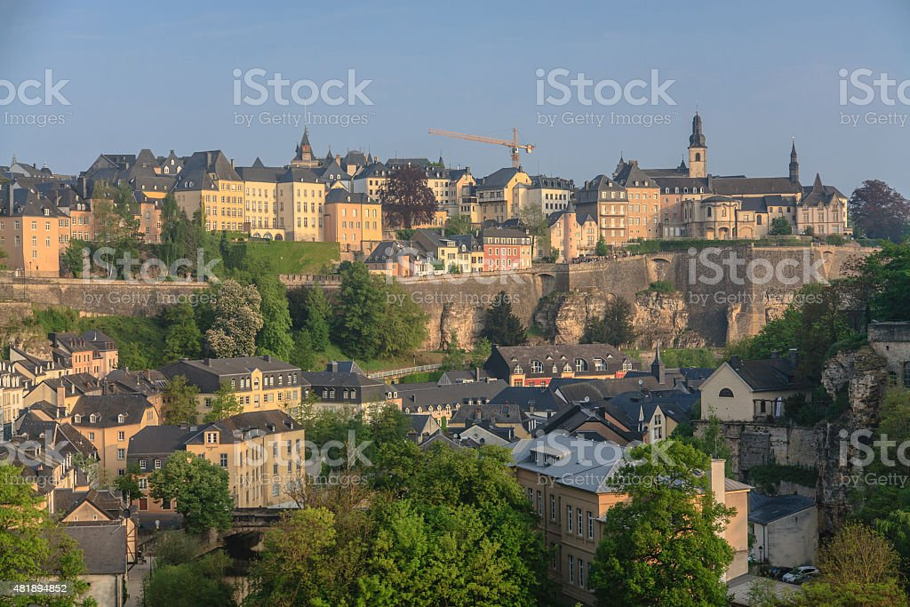 Luxembourg Old City skyline stock photo
