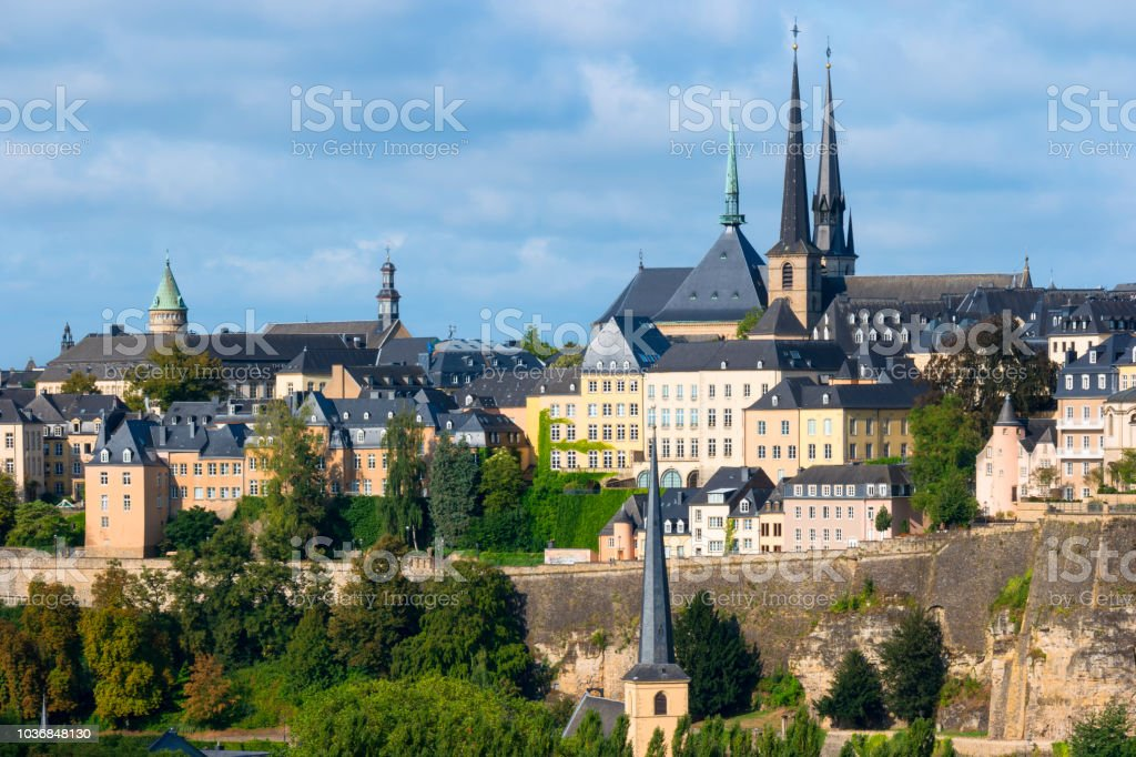 Luxembourg Old Town stock photo