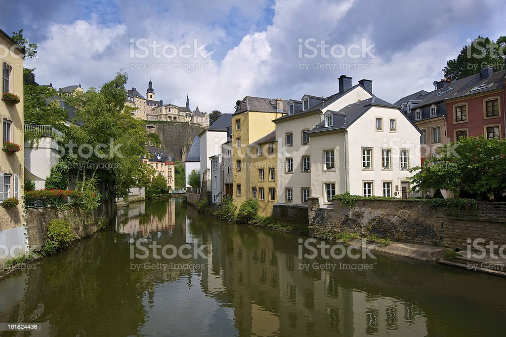 Luxembourg Old Town royalty-free stock photo