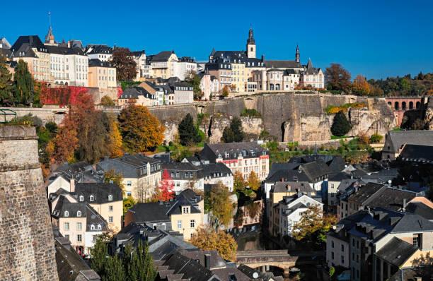 Luxemburg Altstadtblick im Herbst. – Foto