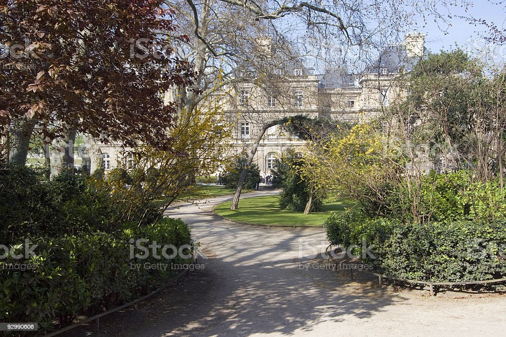 Palais du Luxembourg royalty-free stock photo