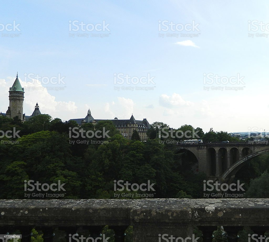 Luxembourg Panorama royalty-free stock photo