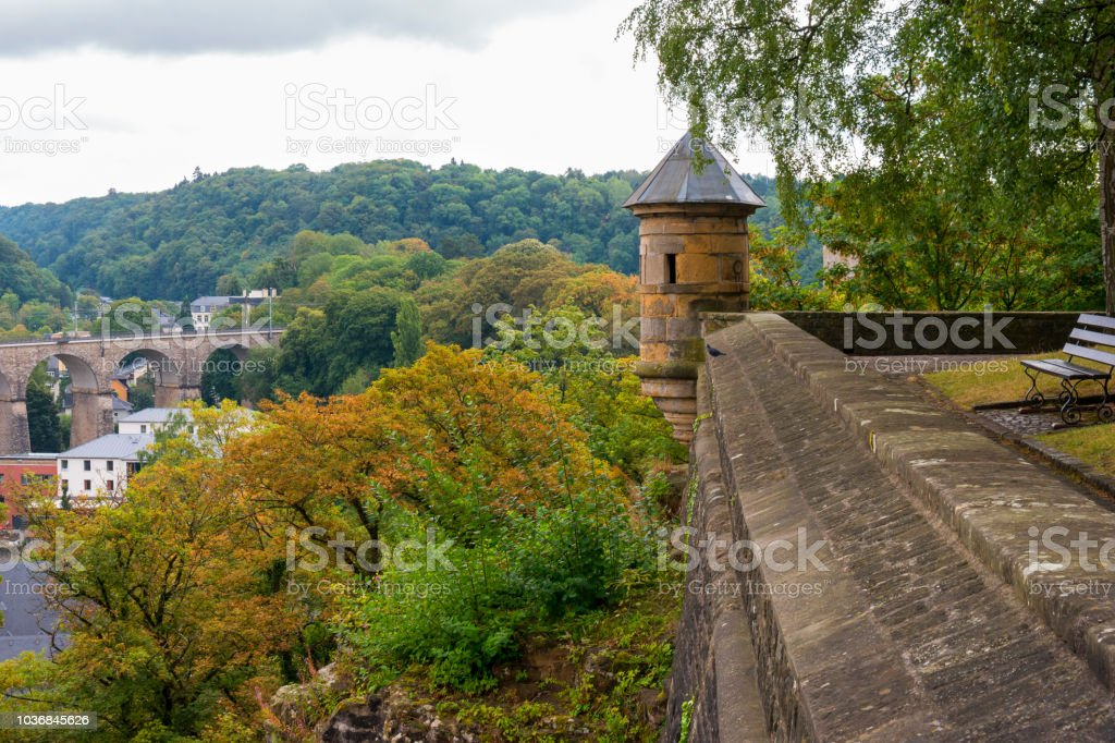 Luxembourg Watchtower stock photo