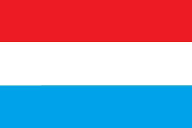 Luxemburg flag stock photo