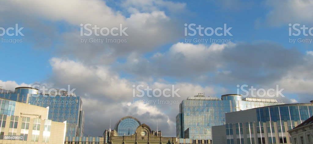 Luxemburg Square in Brussels stock photo